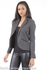 WOMENS LADIES OPEN FRONT OFFICE PARTY SUMMER FULLY LINED JACKETS BLAZERS 8 - 20