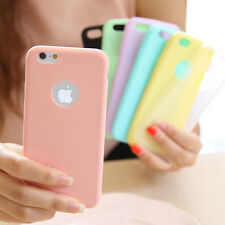 Ultra Slim Candy Colour Soft Silicone Back Case Cover For iPhone 5S SE 6 6S Plus