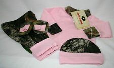 MOSSY OAK CAMO 4 PC BABY INFANT SET - PINK SHIRT & CAMOUFLAGE