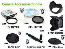FK76 52mm CPL UV Filter + Lens Hood + Cap + Pen for Camcorder Camera Lenses