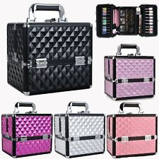 Extra Large Storage Make up Beauty Box Nail Tech Jewelry Cosmetic Vanity Case