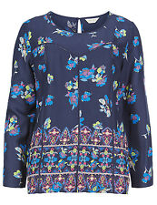 New Ladies M&S Top Scoop Neck Floral Blouse Top Sizes 6 - 22 Marks and Spencer