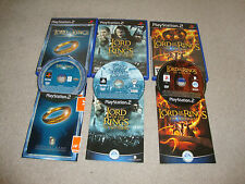 Lord of the Rings Trilogy PS2 Fellowship, Two Towers, Third Age with Manuals