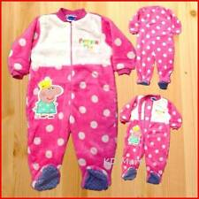 "New Baby Girl ""Peppa Pig  Velvet Jumpsuit Pyjamas  Size1,2,3,4,5"
