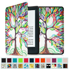 "2016 All-New Kindle 6"" Amazon Kindle 8th Generation Smart Leather Case Cover"