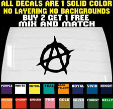ANARCHY DECAL STICKER CAR LAPTOP TRUCK VINYL SPIKED ** BUY 2 GET 1 FREE **