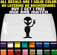 ALIEN DECAL STICKER CAR LAPTOP TRUCK VINYL PEACE SIGN **BUY 2 GET 1 FREE**