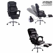 Luxury Leather Recliner Office Chair High Back Adjustable Swivel Computer Chair