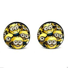 Minions Cartoon Logo Acrylic Screw Fit Ear Plug Flesh Tunnel 6-20mm