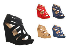 New Womens Fashion Strappy Open Toe Platform Wedge Sandal Shoes Lena-3