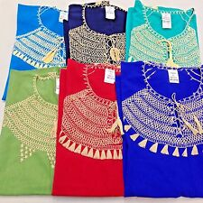 Mexican Hippie Peasant Vintage Embroidered Blouse Top Handmade Assorted Colors