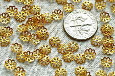 Brass Stamping Filigree Central Hole Bead Caps more color plated 6mm bc34(100pcs