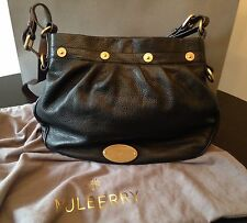 Genuine Mulberry Mitzy Messenger Bag Tote Black Leather Brand New