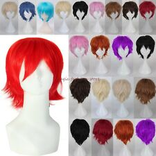 Fashionable Short Full Head Wig Cosplay Party Daily Fancy Dress Unisex Blonde F2