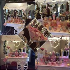 Victorian Sweet Cart FOR HIRE with/without buffet.  Wedding Party Christening