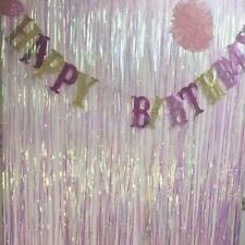 Metallic Foil Fringe Tinsel Curtain Party Wedding Birthday String Decoration