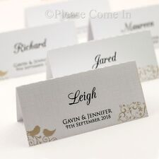 Personalized White/Cream Forever Couple Wedding Place Cards/Escort Cards