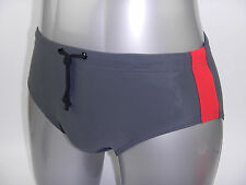 Men Swim Brief Swimsuit Swimwear Bathing Suit Costume Slip Gray Grey S M L XXXL