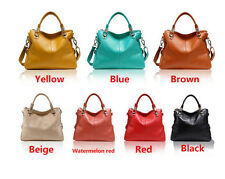 Women First Layer Genuine Cow Leather Fashion All-match Lady Tote Messenger Bags