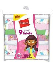 9 Pack Hanes Girls' No Ride Up Cotton Assorted Colored Panties Briefs -BinA1