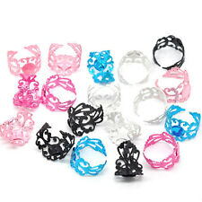 Top Quality Settings Filigree Rings Adjustable Jewelry Making 20pcs US 8