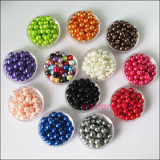 New Charms Glass Pearl Round Ball Loose Spacer Beads Mixed 4mm 6mm 8mm