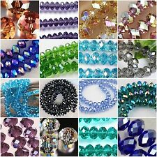 10-100pcs Glass Crystal Faceted Rondelle Spacer Loose Beads 6/8/10/12/14/16/18mm