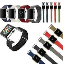 Magnetic 100% Genuine Leather Loop iWatch Strap for Apple Watch Band 38mm/42mm