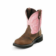 Justin Boots Justin Ladies Gypsy Steel 8in Pink Work Boots