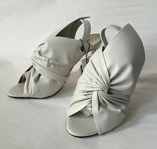 ZARA LEATHER SANDALS WITH BOW ECRU 36-41 REF. 6616/101