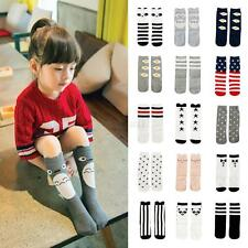 New Fashion Kids Girls Baby Cute Cartoon Socks Toddler Cotton Knee High Socks