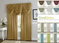 Fancy Victorian Faux Silk Window Curtain Treatments - Assorted Colors & Styles