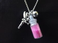 Fairy and Fairy Dust Necklace  Tinkerbell Fae Faerie  Tibetan Silver