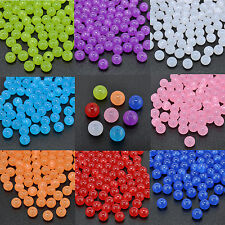 100pcs Various Colors Acrylic Cats Eye Spacer Beads Ball 8mm For Jewelry Making
