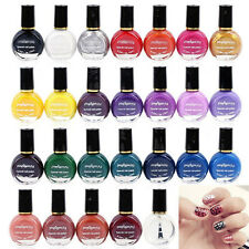 26 Colors Pro Template Stamping Nail Polish Art Manicure Varnish Brush Drawing