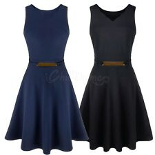 New Vintage Fashion Women's Casual Sleeveless Party Evening Cocktail Mini Dress