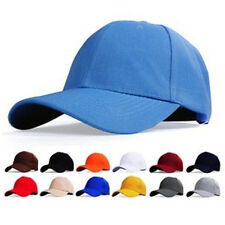 Plain Fitted Baseball Cap Curved Visor Solid Blank Color Caps Hat Hats