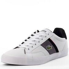 Lacoste Fairlead Low Top Mens Trainers White Grey New Shoes