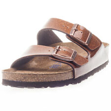 Birkenstock Arizona Birko-flor Womens Sandals Bronze New Shoes
