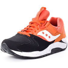 Saucony Grid 9000 Mens Trainers Black Orange New Shoes