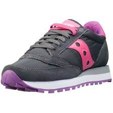 Saucony Jazz Original Womens Trainers Charcoal Pink New Shoes