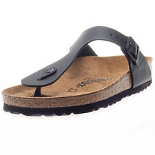 Birkenstock Gizeh Birko-flor Regular Fit Unisex Sandals Black New Shoes