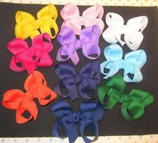 Tiny hairbows, baby bows, Lot Set of 10 Itty Bitty Hairbows, Twisted small Bows