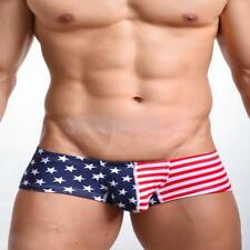 Sexy Men American Flag Underwear Boxer Briefs Shorts Underpant Trunk Cotton