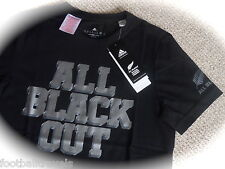 S L XXL 3XL ADIDAS NEW ZEALAND ALL BLACKS RUGBY T SHIRT JERSEY NEW Cotton Tags