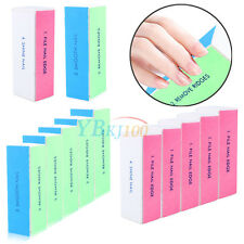 1/5/10pcs Pro Nail Art Manicure 4 Way Shiner Buffer Buffing Block Sanding File