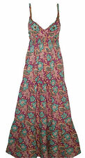 Ex Evie Purple Green Floral Printed Paisley Beaded Summer Maxi Dress Size 8 10