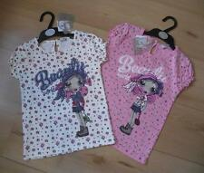 BNWT Girls Clothes 2-6 Years FUNKY DIVA White or Pink Cotton Floral T-shirt Top