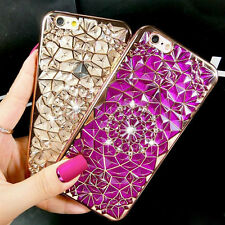 Glitter Bling Crystal Diamond Soft Rubber Case Cover For Apple iPhone 6 6s Plus