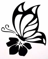 Butterfly & Flower Cool Sexy Car Truck Window Vinyl Decal Sticker 12 COLORS